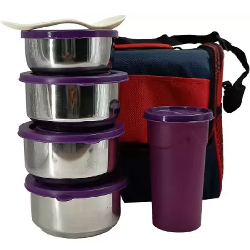 SOLOMON PREMIUM QUALITY COMPACT TIFFIN BOX (PURPLE)