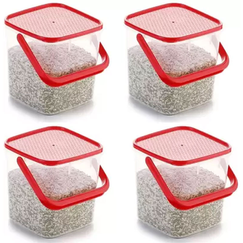 SOLOMON 5KG SQUARE CONTAINER RED PACK OF 4