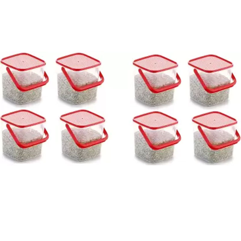 SOLOMON 5KG SQUARE CONTAINER RED PACK OF 8
