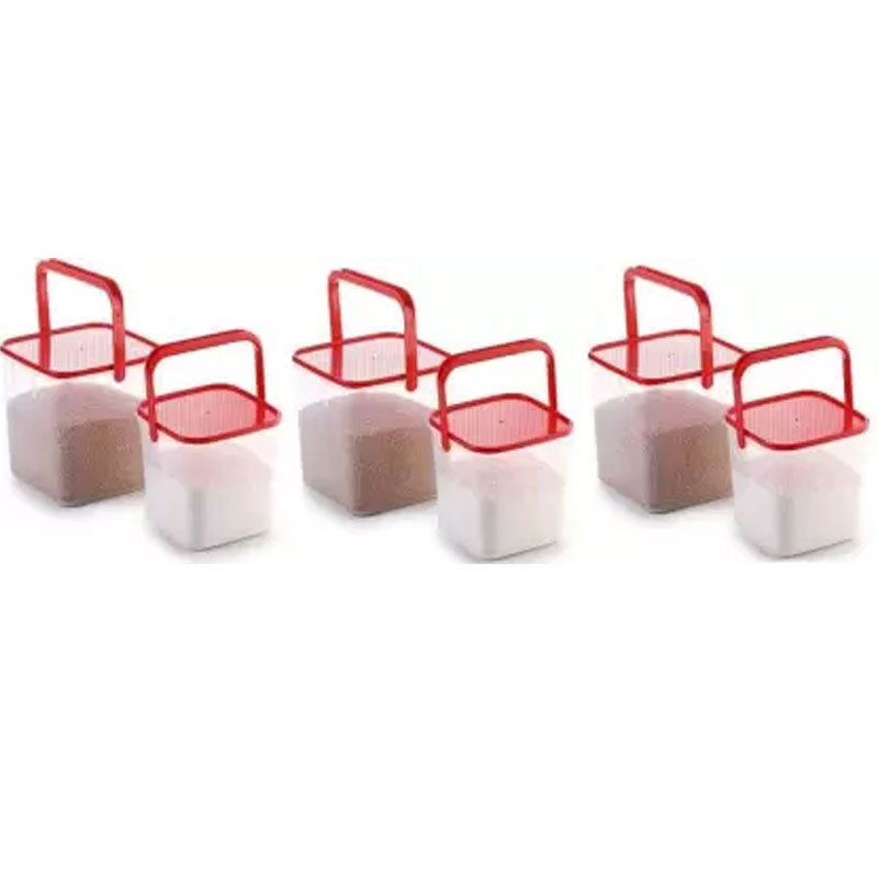 SOLOMON 3KG & 5KG SQUARE CONTAINER WITH RED CAP PACK OF 6