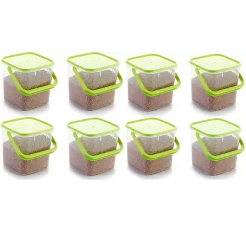 SOLOMON 5KG SQUARE CONTAINER GREEN PACK OF 8