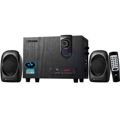 Zebronics ZEB SW2492 RUCF Laptop/Desktop Speaker (Black, 2.1 Channel)